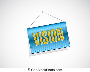vision hanging sign concept illustration