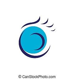 vision lens optical Eye Logo design vector symbol concept idea