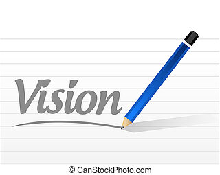 vision message sign concept illustration