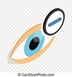 Vision myopia isometric icon