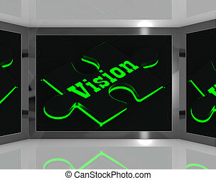Vision On Screen Showing Predictions