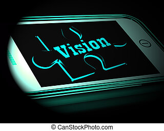 Vision On Smartphone Showing Predictions 3d Rendering