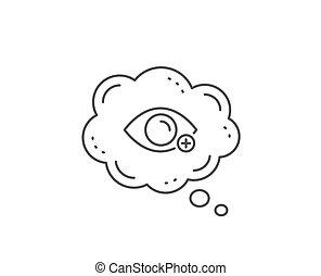 vision., optometrie, auge, zeichen., farsightedness,...