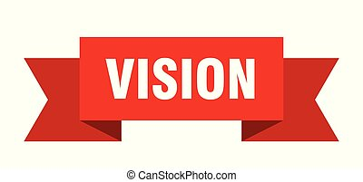 vision ribbon. vision isolated sign. vision banner