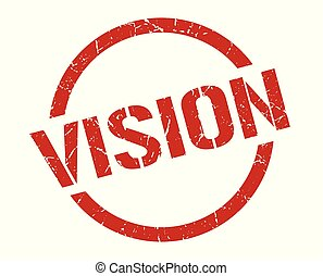 vision stamp - vision red round stamp