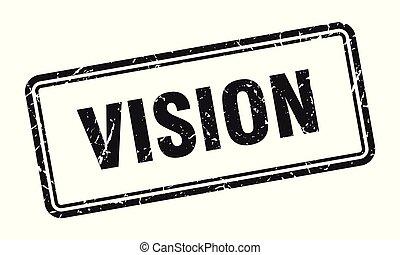 vision stamp. vision square grunge sign. vision