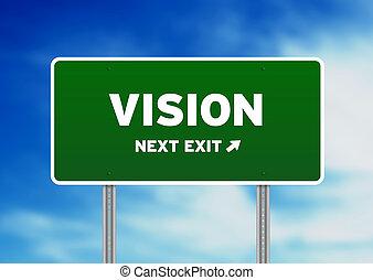 vision, straßenschild