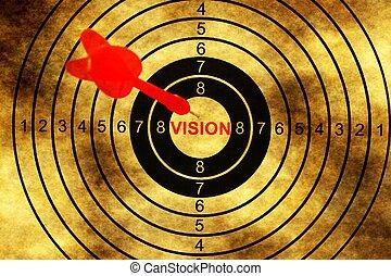 Vision target on grunge background