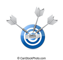 vision target sign concept illustration