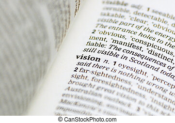 Vision - The word vision written in a thesaurus