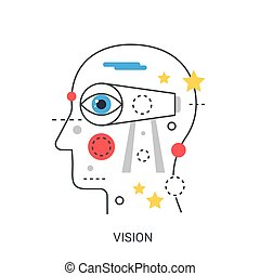 Vision vector illustration concept.
