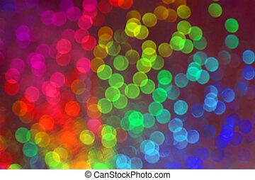 vision, von, viele, blurry, punkte, mit, bokeh, effekt, von, viele farben