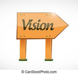 vision wood sign concept illustration