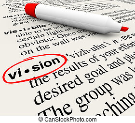 Vision Word Dictionary Definition Leadership Success - The...
