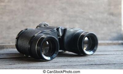Vision word on binoculars