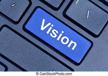 Vision word on keyboard button