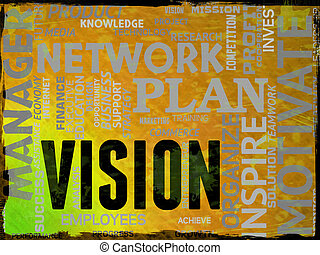 Vision Words Means Goal Aspire And Future