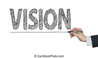 vision written by hand