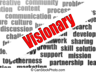 Visionary word cloud
