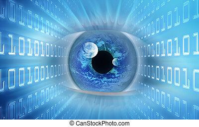 visione, di, futuro