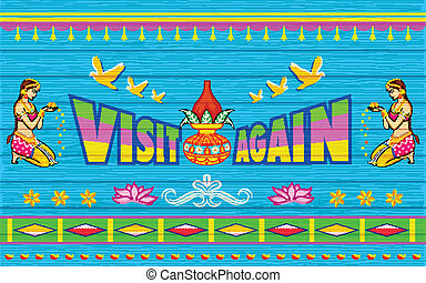 Visit Again Poster - illustration of Entry Poster India...