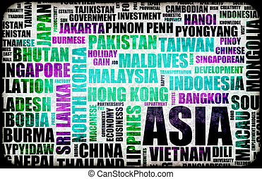 Visit Asia Tourism Concept for Holiday Choices