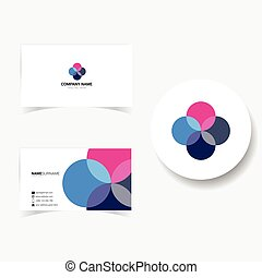 visit card illustration in colorful