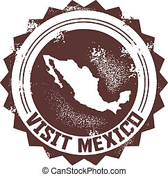 Visit Mexico Stamp