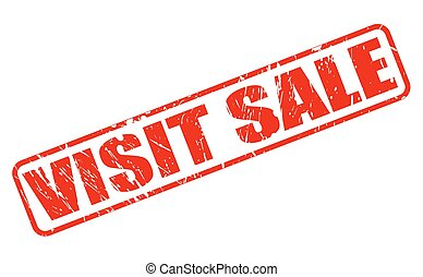 VISIT SALE RED STAMP TEXT