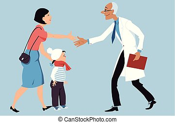 Visit to a doctor with a child
