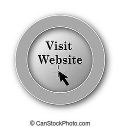 Visit website icon. Internet button on white background.