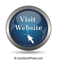 Visit website icon. Internet button on white background.