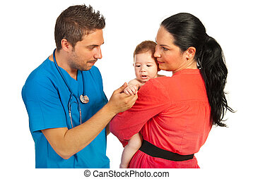 visitando, doutor familiar