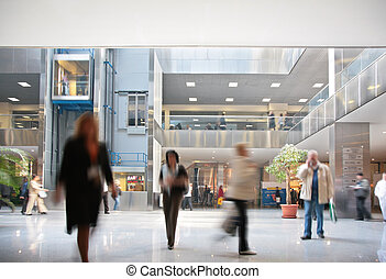 visitantes, centro, empresa / negocio