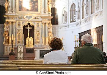 visitantes, en, catedral