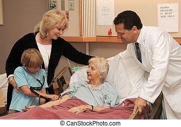 visite maison, soins, docteur