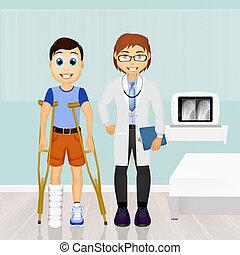 visite, orthopédie, patient