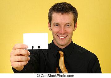 visitekaartje, man