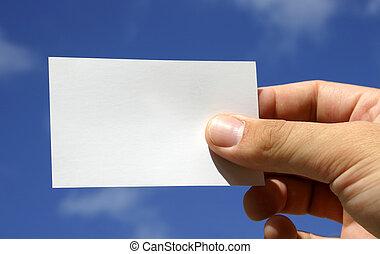 visitekaartje, reeks