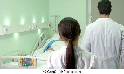 visiter, patient