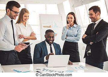 Visiting business presentation