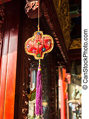 Visiting Chinese Buddhist tample in the China