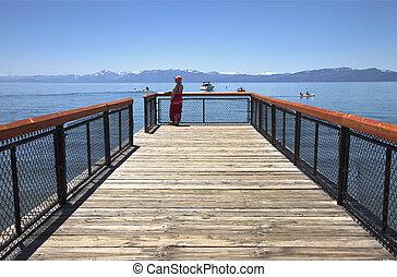 Visiting Lake Tahoe, California.