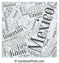 Visiting Mexico Dont be a Victim to Crime Word Cloud Concept