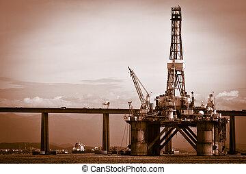 Visiting Rio de Janeiro - Petroleum plataform on the...