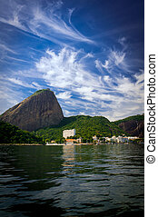 Visiting Rio de Janeiro - View of the Sugar Loaf from a boat...