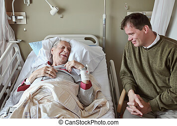 visitor in  hospital - visitor of recovery room by hospital