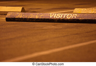 Visitor parking space