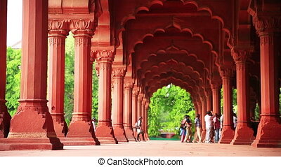 Visitors at Red Fort - Visitors arriving at Red Fort