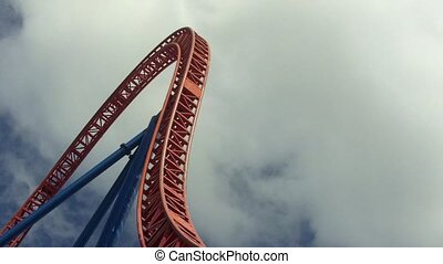 Visitors ride on Superman Escape in Movie World Gold Coast Queensland Austral